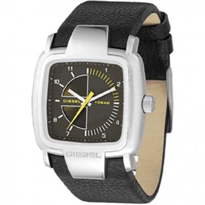 Diesel DZ4032 Watch Strap Black Leather