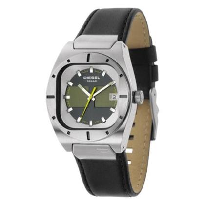 Diesel DZ4113 Watch Strap Black Leather