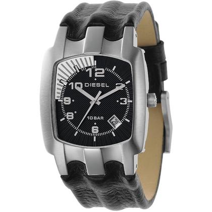 Diesel DZ4118 Watch Strap Black Leather