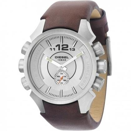 Diesel DZ4120 Watch Strap Brown Leather