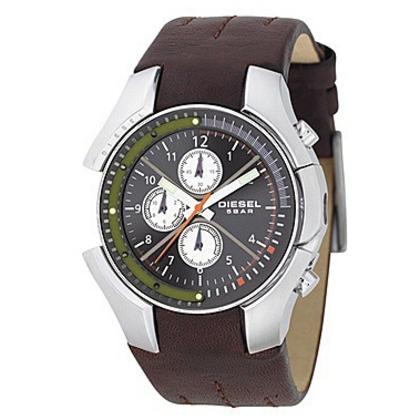 Diesel DZ4128 Watch Strap Brown Leather