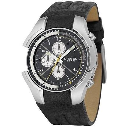 Diesel DZ4146 Watch Strap Black Leather
