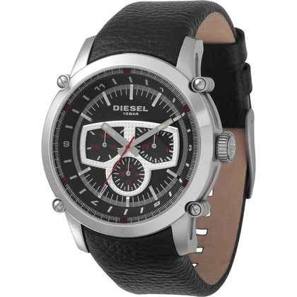 Diesel DZ4150 Watch Strap Black Leather
