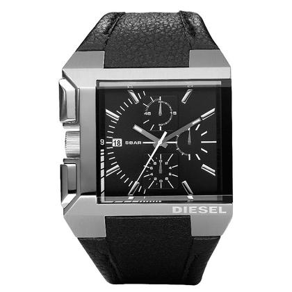 Diesel DZ4172 Watch Strap Black Leather
