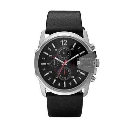 Diesel DZ4182 Watch Strap Black Leather