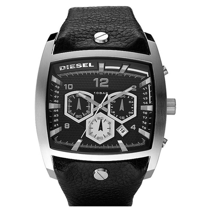 Diesel DZ4183 Watch Strap Black Leather