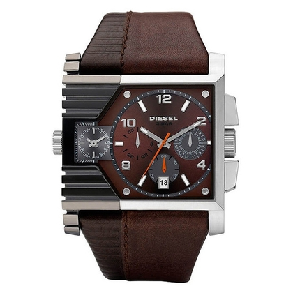 Diesel DZ4186 Watch Strap Brown Leather