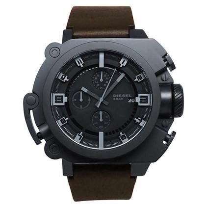 Diesel DZ4243 Watch Strap Black Leather