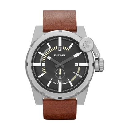 Diesel DZ4270 Watch Strap Brown Leather