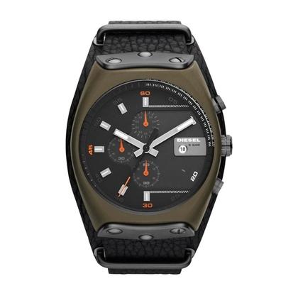 Diesel DZ4295 Watch Strap Black Leather