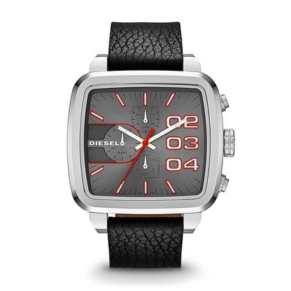 Diesel DZ4304 Watch Strap Black Leather