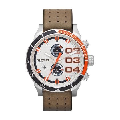 Diesel DZ4310 Watch Strap Brown Leather
