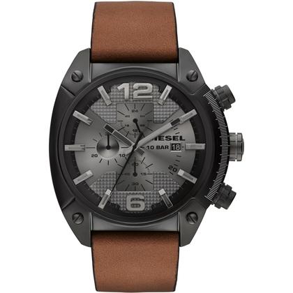 Diesel DZ4317 Watch Strap Brown Leather