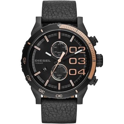Diesel DZ4327 Watch Strap Black Leather