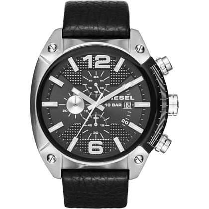 Diesel DZ4341 Watch Strap Black Leather