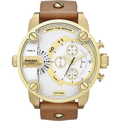 Diesel DZ7288 Watch Strap Brown Leather