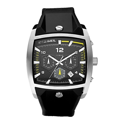 Diesel DZ4165 Watch Strap Black Rubber