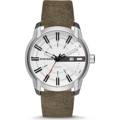 Diesel DZ1781 Watch Strap Green Leather
