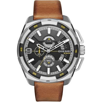 Diesel DZ4393 Watch Strap Brown Leather
