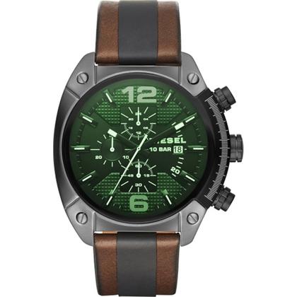 Diesel DZ4414 Watch Strap Brown Black Leather