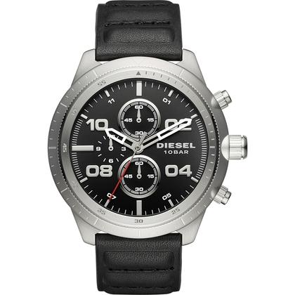Diesel DZ4439 Watch Strap Black Leather
