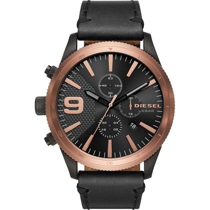 Diesel DZ4445 Watch Strap Black Leather