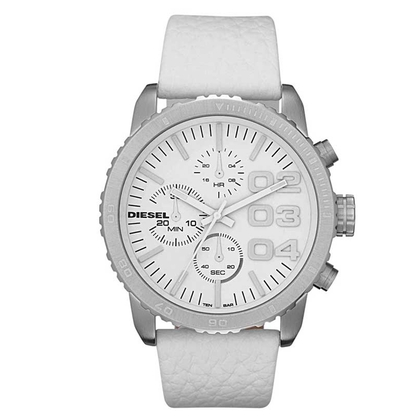 Diesel DZ5330 Watch Strap White Leather