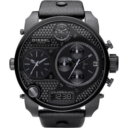 Diesel DZ7193 Watch Strap Black Leather