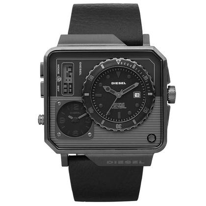Diesel DZ7241 Watch Strap Black Leather
