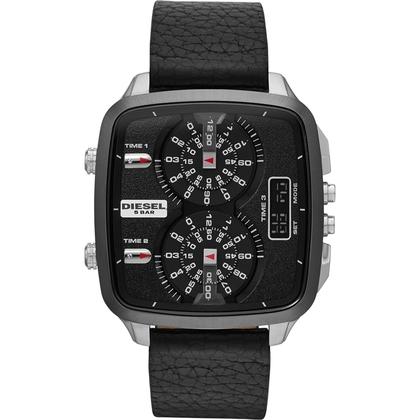 Diesel DZ7302 Watch Strap Black Leather