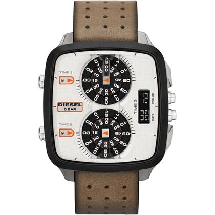 Diesel DZ7303 Watch Strap Brown Leather