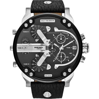 Diesel DZ7313 Watch Strap Black Leather