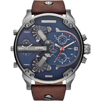 Diesel DZ7314 Watch Strap Brown Leather