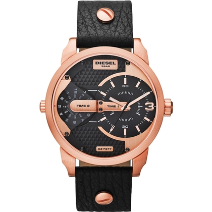 Diesel DZ7317 Watch Strap Black Leather