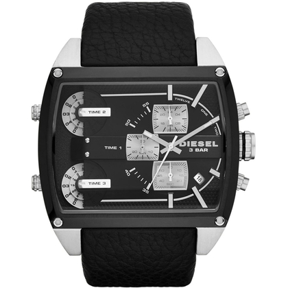 Diesel DZ7326 Watch Strap Black Leather