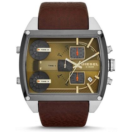 Diesel DZ7327 Watch Strap Brown Leather