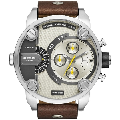Diesel DZ7335 Watch Strap Brown Leather