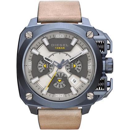 Diesel DZ7342 Watch Strap Beige Leather