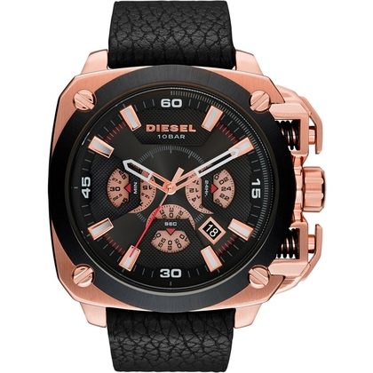 Diesel DZ7346 Watch Strap Black Leather