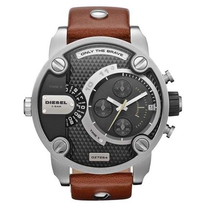 Diesel DZ7376 Watch Strap Black Leather
