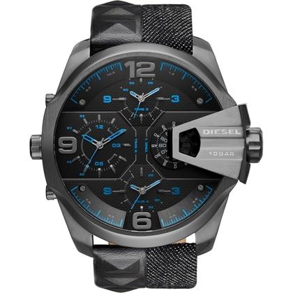 Diesel DZ7393 Watch Strap Black Leather