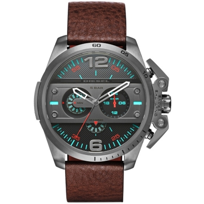 Diesel DZ4387 Watch Strap Brown Leather