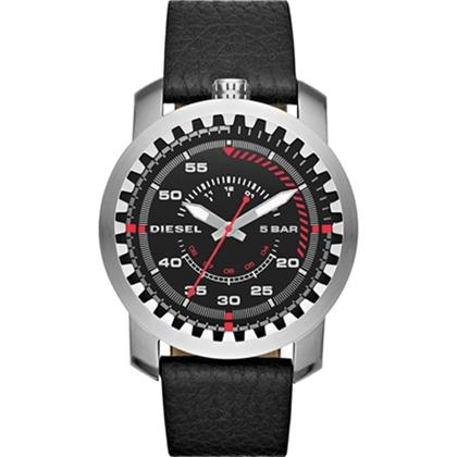 Diesel DZ1750 Watch Strap Black Leather