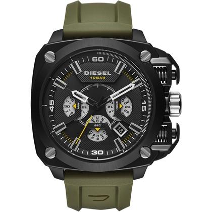 Diesel DZ7369 Watch Strap Green Rubber