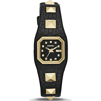 Diesel DZ5503 Watch Strap Black Leather