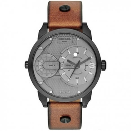 Diesel DZ7337 Watch Strap Brown Leather