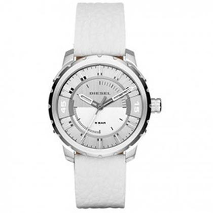 Diesel DZ1731 Watch Strap White Leather