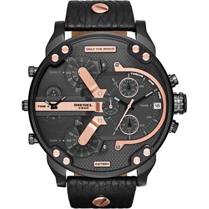 Diesel DZ7350 Watch Strap Black Leather