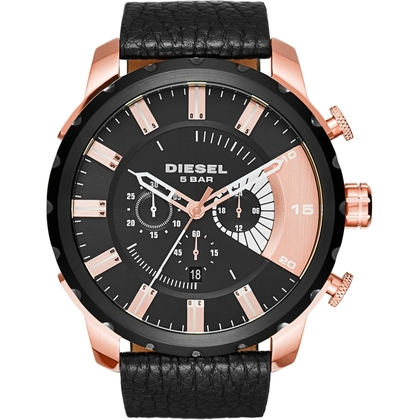 Diesel DZ4347 Watch Strap Black Leather