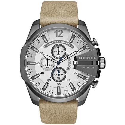 Diesel DZ4359 Watch Strap Beige Leather